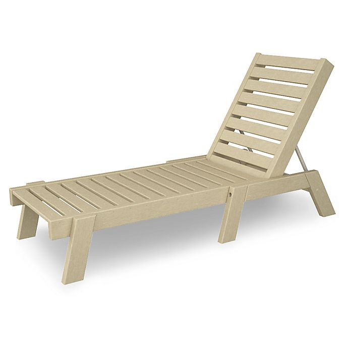 Alternate image 1 for POLYWOOD® Captain Chaise in Sand
