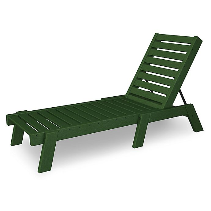 Alternate image 1 for POLYWOOD® Captain Chaise Lounge in Green