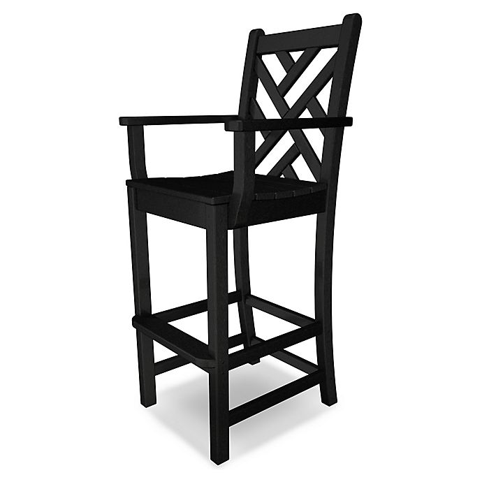 Alternate image 1 for POLYWOOD® Chippendale Bar Arm Chair in Black