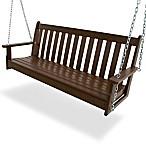 POLYWOOD® Vineyard Garden Swing in Mahogany