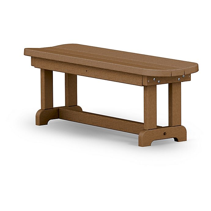 Alternate image 1 for POLYWOOD® Park 48-Inch Backless Bench in Teak