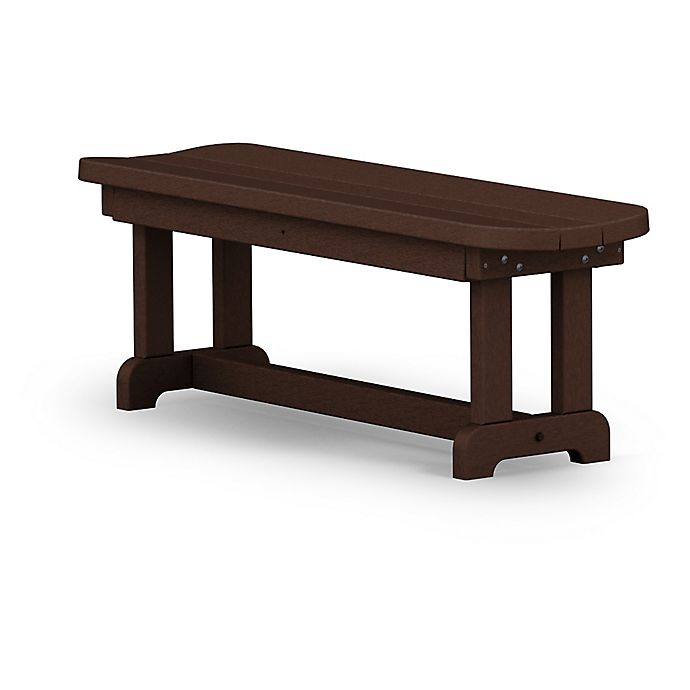 Alternate image 1 for POLYWOOD® Park 48-Inch Backless Bench in Mahogany