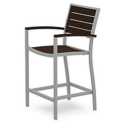 POLYWOOD® Euro All-Weather Counter Arm Chair