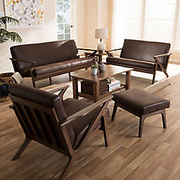 Bianca Distressed Faux Leather Effect Furniture Collection
