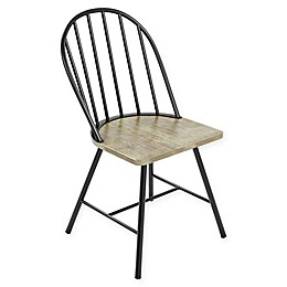 Novogratz Leo Farmhouse Dining Chair in Black/Grey