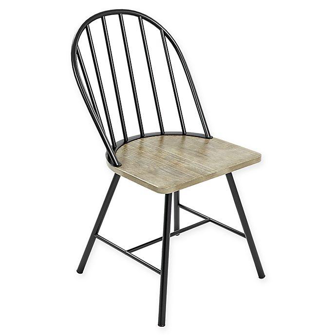 Alternate image 1 for Novogratz Leo Farmhouse Dining Chair in Black/Grey