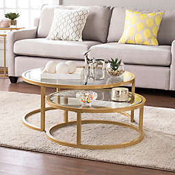 Southern Enterprises Evelyn Table Collection in Gold