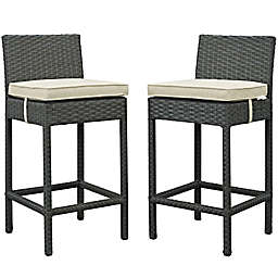 Modway Sojourn Outdoor Bar Stools in Sunbrella® Canvas (Set of 2)