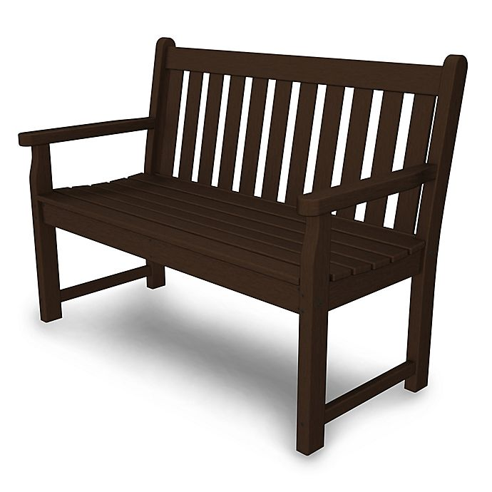 Buy Polywood 174 Traditional Garden 48 Inch Bench In Mahogany
