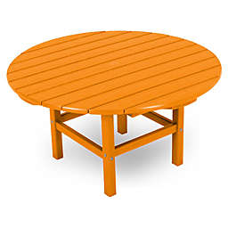 POLYWOOD® La Casa 38-Inch Round Conversation Table in Tangerine