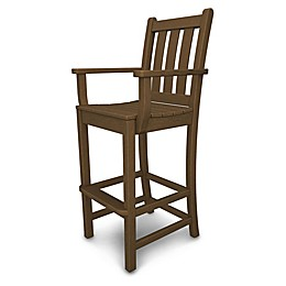 POLYWOOD® Traditional Garden Bar Arm Chair