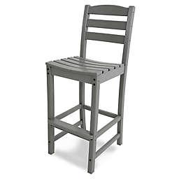 POLYWOOD® La Case Café Bar Side Chair in Slate Grey