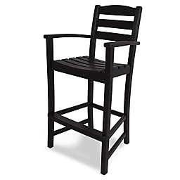 POLYWOOD® La Casa Bar Arm Chair in Black