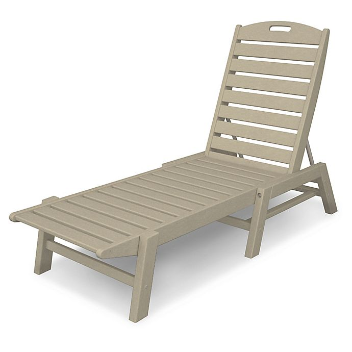Alternate image 1 for POLYWOOD® Nautical Stackable Chaise in Sand