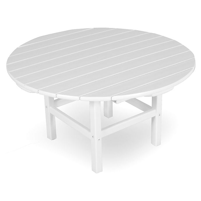 Alternate image 1 for POLYWOOD® La Casa 38-Inch Round Conversation Table in White
