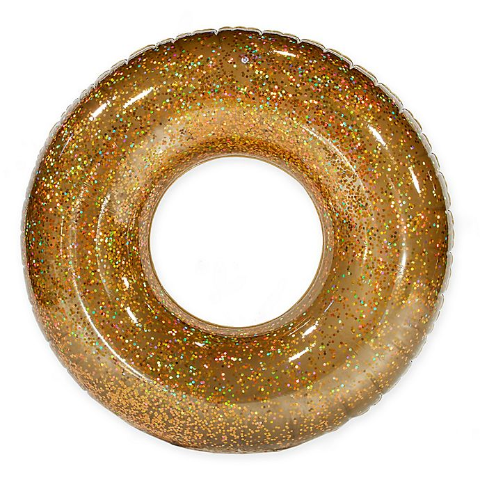 Alternate image 1 for Pool Candy Holographic Glitter Beach and Pool Tube in Gold