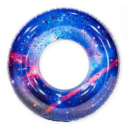 Pool Candy Galaxy Glitter Beach and Pool Tube in Blue