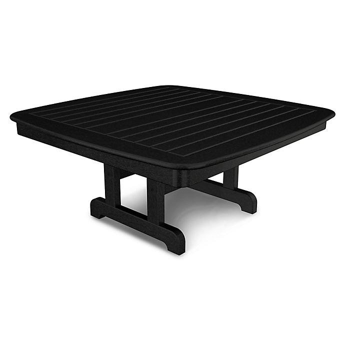 Alternate image 1 for POLYWOOD® Nautical 44-Inch Conversation Table in Black