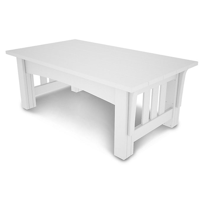 Alternate image 1 for POLYWOOD® Mission Coffee Table in White