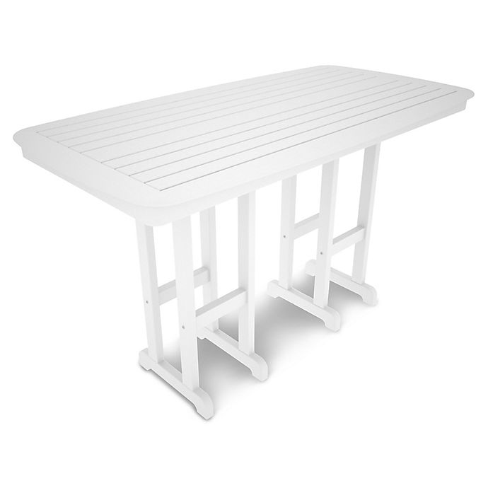 Alternate image 1 for POLYWOOD® Nautical 71.5-Inch Bar Table in White