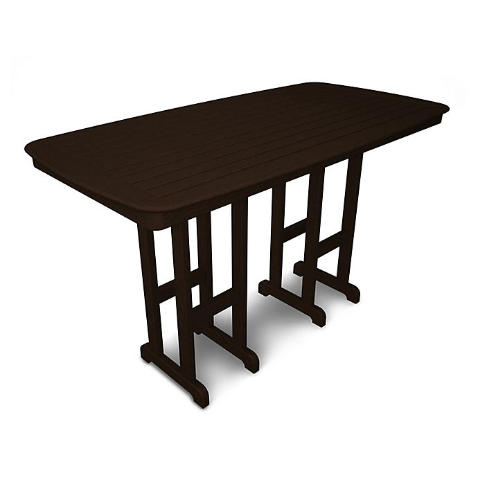 Alternate image 1 for POLYWOOD® Nautical 71.5-Inch Bar Table in Mahogany