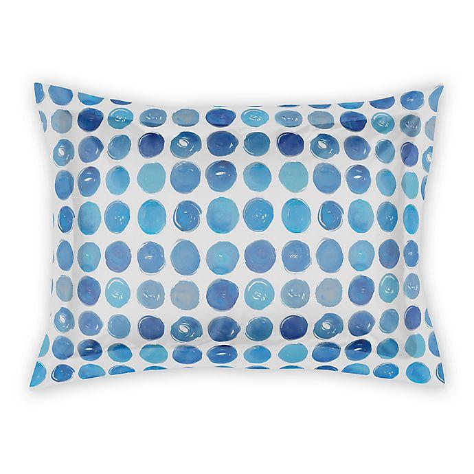 Alternate image 1 for Designs Direct Blue Dots Standard Pillow Sham in Blue/White