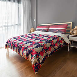 Designs Direct Drippy Ikat Flowers Duvet Cover