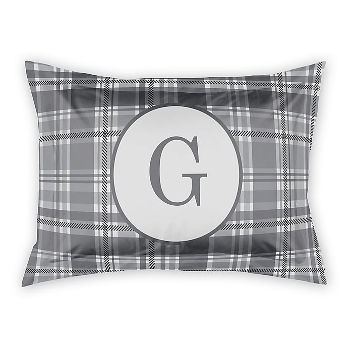 Alternate image 1 for Designs Direct Plaid Standard Pillow Sham in Grey