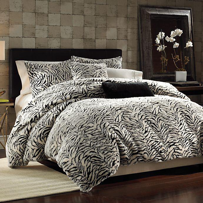 White Tiger Faux Fur Twin Duvet Cover Set | Bed Bath & Beyond