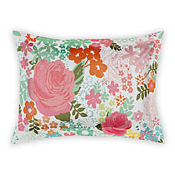 Designs Direct Retro Bright Blooms Pillow Sham in Pink