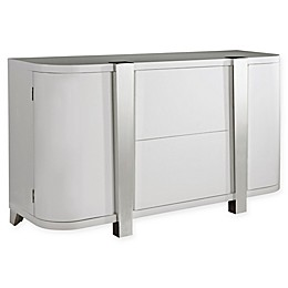 Pulaski Modern High Gloss Console in White