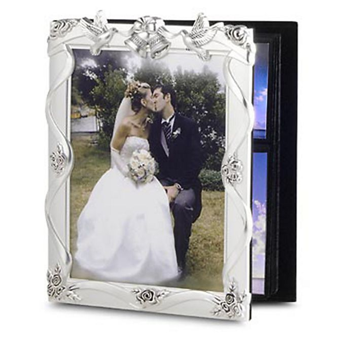 Silver Plated Wedding Album With 8 X 10 Frame Bed Bath Beyond