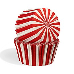 Cupcake Creations™ 32-Count Standard Size Baking Cups in Red/White Stripes