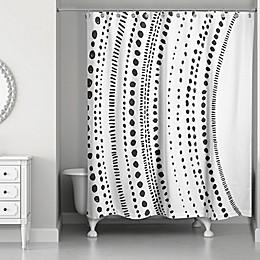 Designs Direct Mod Dots Shower Curtain