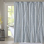 Style Quarters Blue Batik Shower Curtain