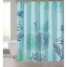 White Woodland Animals Shower Curtain