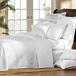 Williamsburg William and Mary White Matelasse Bedspread, 100% Cotton