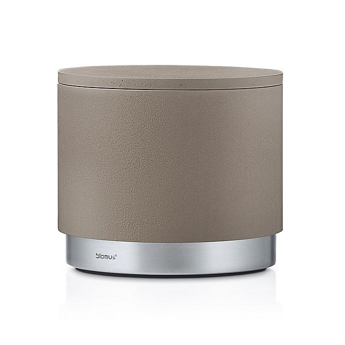 Alternate image 1 for Blomus Bathroom Storage Canister in Taupe