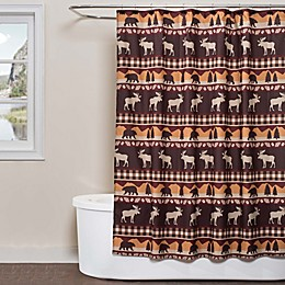 Saturday Knight Timberline Shower Curtain Collection in Brown