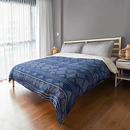 Designs Direct Tribal Pattern King Duvet Cover in Blue