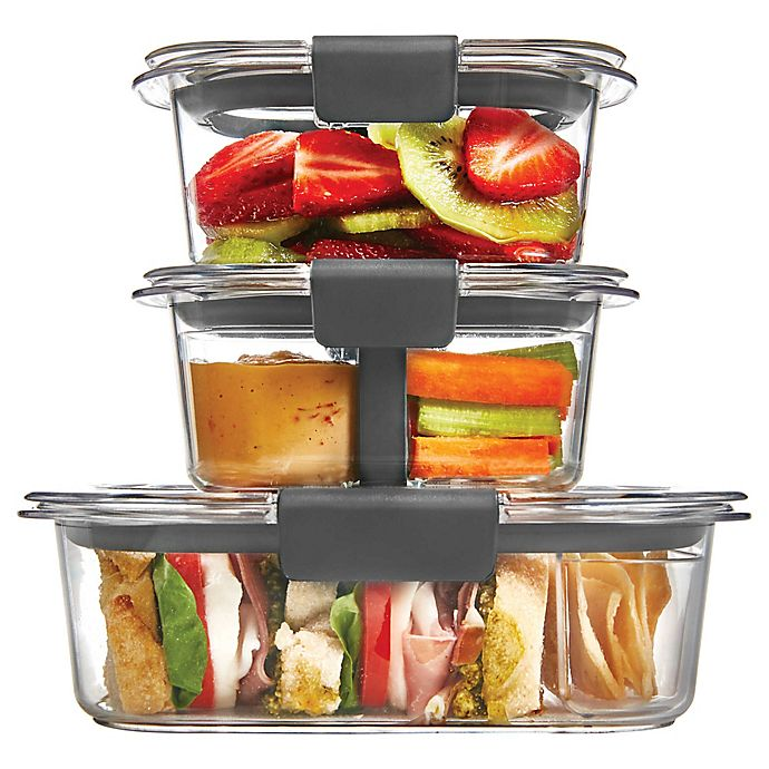 Alternate image 1 for Rubbermaid® Brilliance 6-Piece Sandwich/Snack Storage Container Set