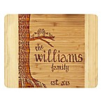 Stamp Out Bird Family Tree 11-Inch x 14-Inch Bamboo Cutting Board