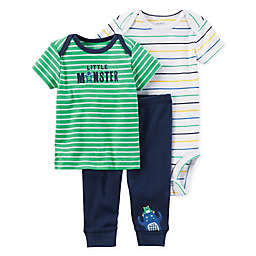 carter's® 3-Piece Dinosaur Bodysuit and Pant Set