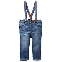 OshKosh B'gosh® Derby Wash Jean Suspender Pants