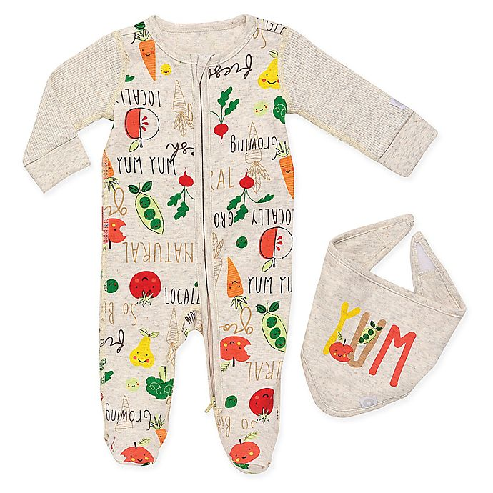 Alternate image 1 for Boppy® 2-Piece Locally Grown Footie and Bib Set