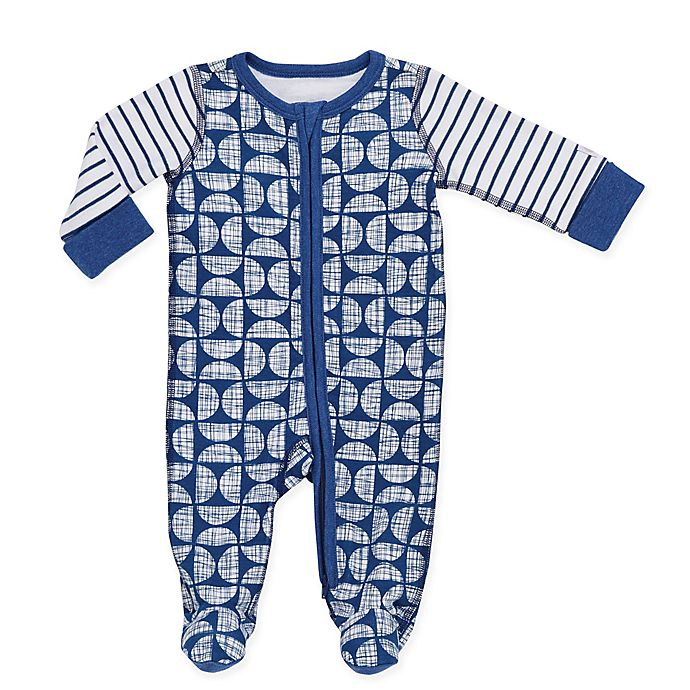 Alternate image 1 for Boppy® Geo Sketch Footie in Navy