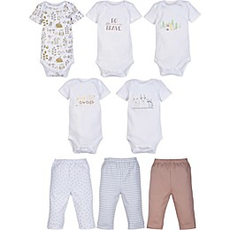 MiracleWear 5-Pack Boy Bodysuits and 3-Pack Pants Set