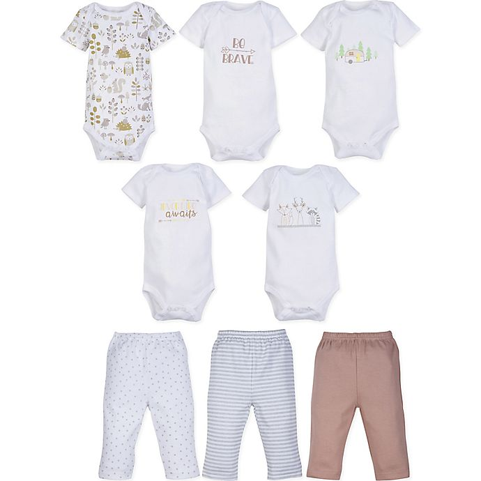 Alternate image 1 for MiracleWear 5-Pack Boy Bodysuits and 3-Pack Pants Set