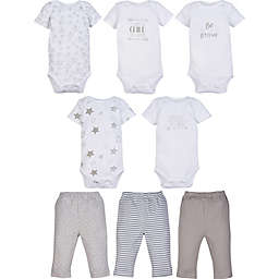 MiracleWear 5-Pack Neutral Bodysuits and 3-Pack Pants Set