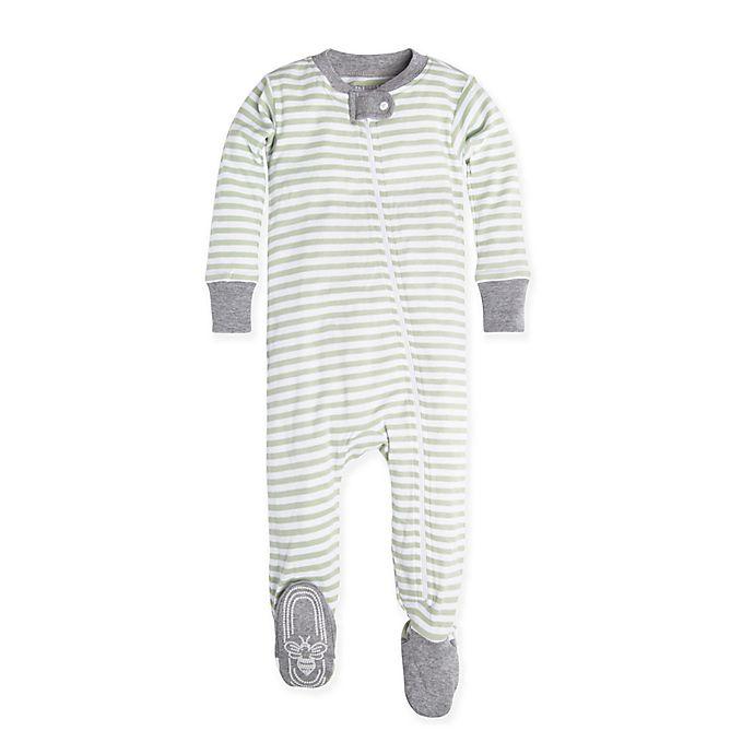 0d882f594708 Burt s Bees Baby® Mini Stripe Footie in Green
